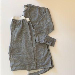 Women's LL Bean Top and bottom set for sports.